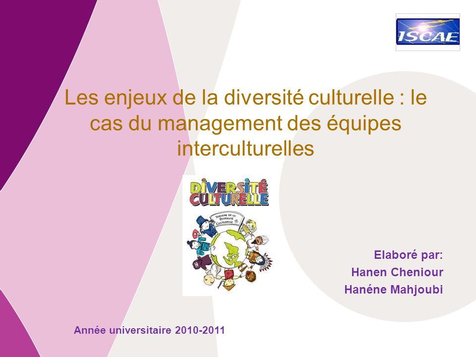 Commission européenne Entreprises et Industrie Les enjeux de la diversité culturelle : le cas du management des équipes interculturelles Elaboré par: