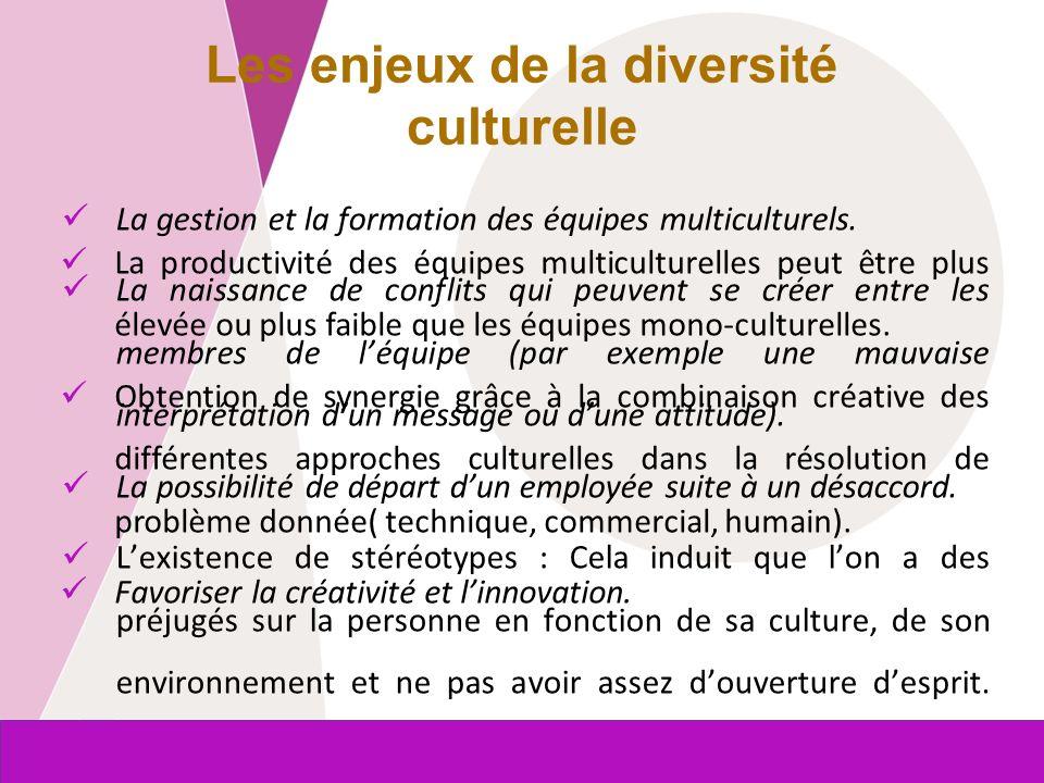 Commission européenne Entreprises et Industrie La gestion et la formation des équipes multiculturels. La naissance de conflits qui peuvent se créer en