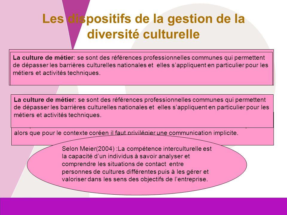 Commission européenne Entreprises et Industrie Les dispositifs de la gestion de la diversité culturelle La coopération interculturelle: elle fait inte