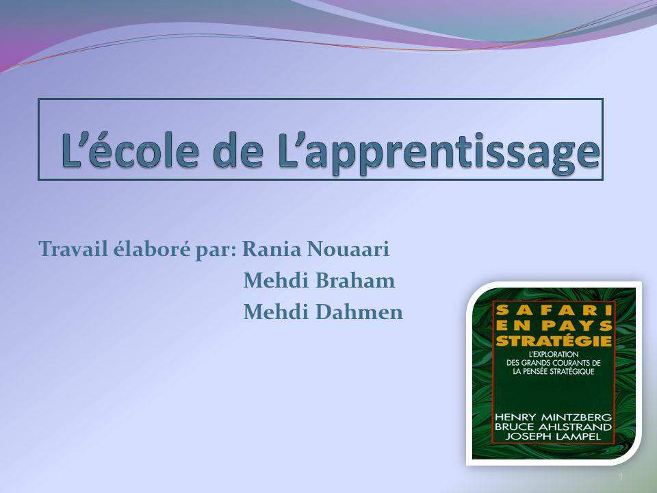 Travail élaboré par: Rania Nouaari Mehdi Braham Mehdi Dahmen 1