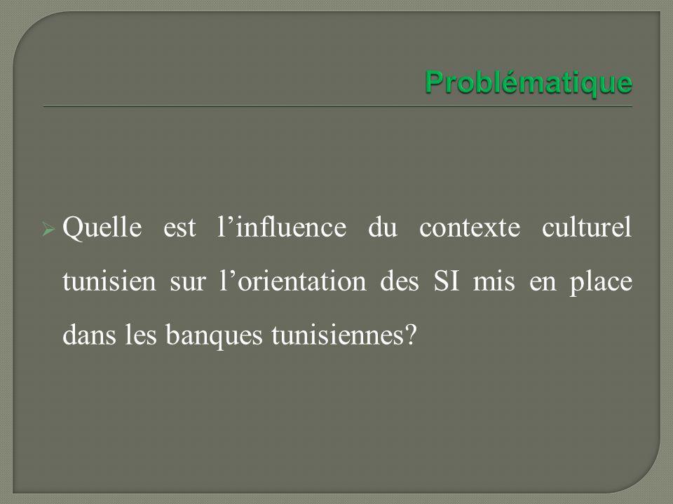 Quelle est linfluence du contexte culturel tunisien sur lorientation des SI mis en place dans les banques tunisiennes