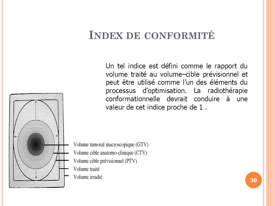 I NDEX DE CONFORMITÉ Un tel indice est défini comme le rapport du volume traité au volume–cible prévisionnel et peut être utilisé comme lun des élémen