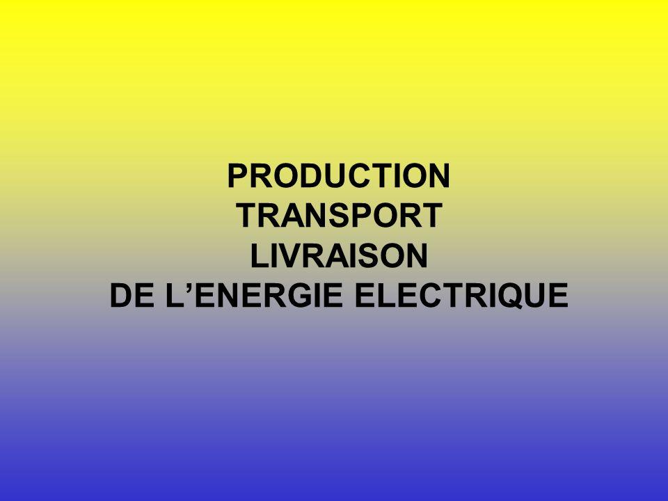 PRODUCTION TRANSPORT LIVRAISON DE LENERGIE ELECTRIQUE