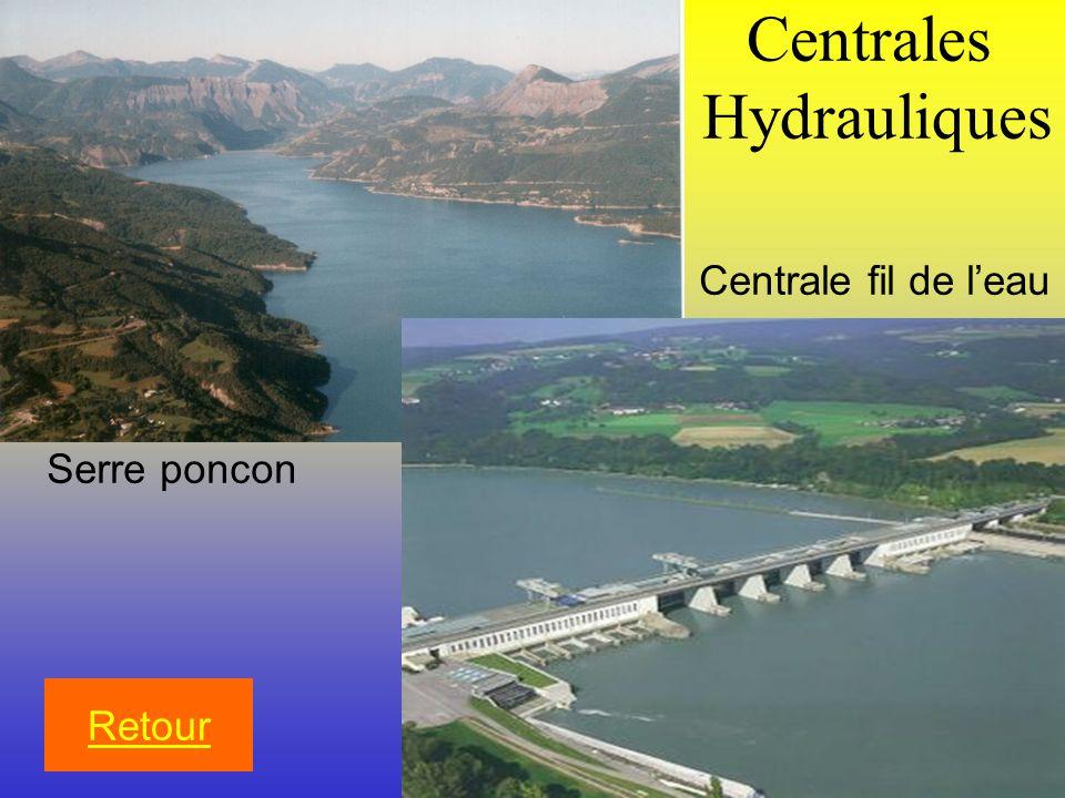 Centrales Hydrauliques Retour Serre poncon Centrale fil de leau