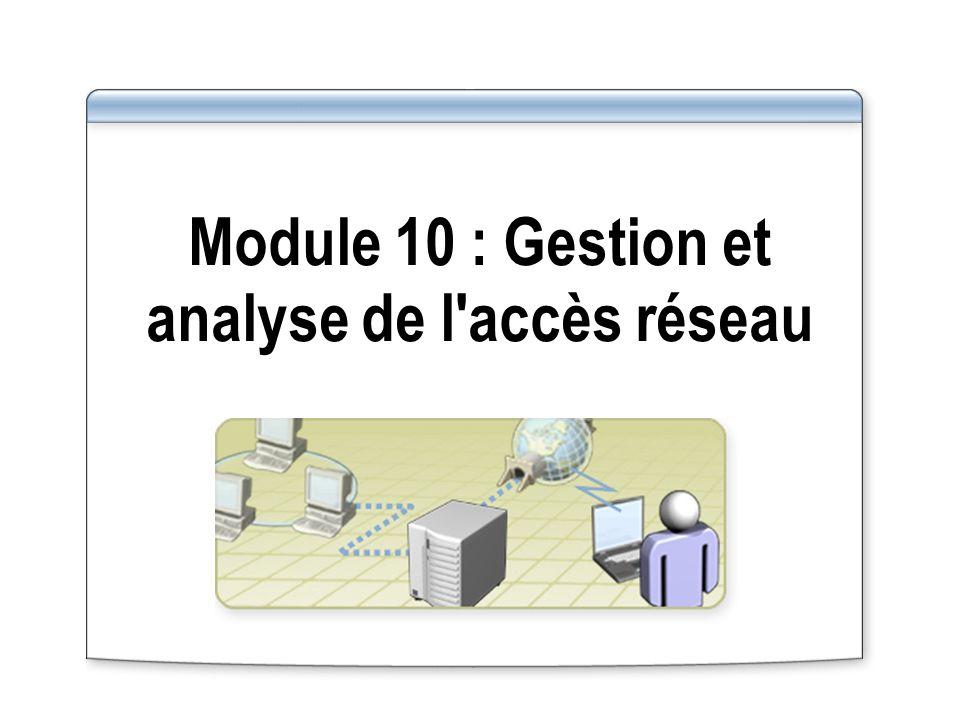 Module 10 : Gestion et analyse de l'accès réseau