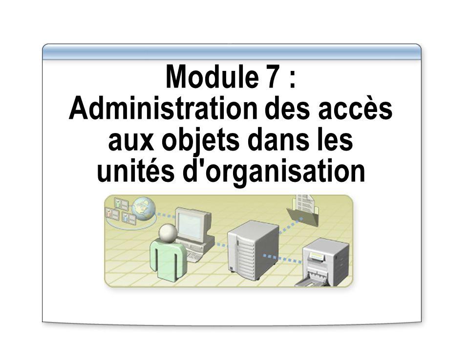 Module 7 : Administration des accès aux objets dans les unités d'organisation