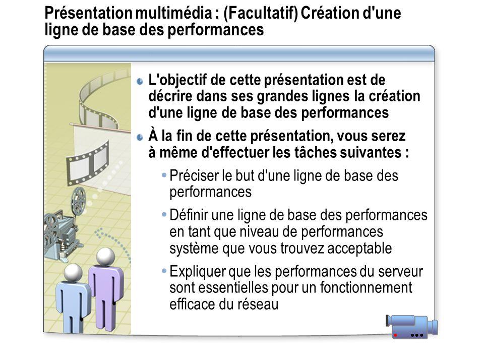 Présentation multimédia : (Facultatif) Création d'une ligne de base des performances L'objectif de cette présentation est de décrire dans ses grandes