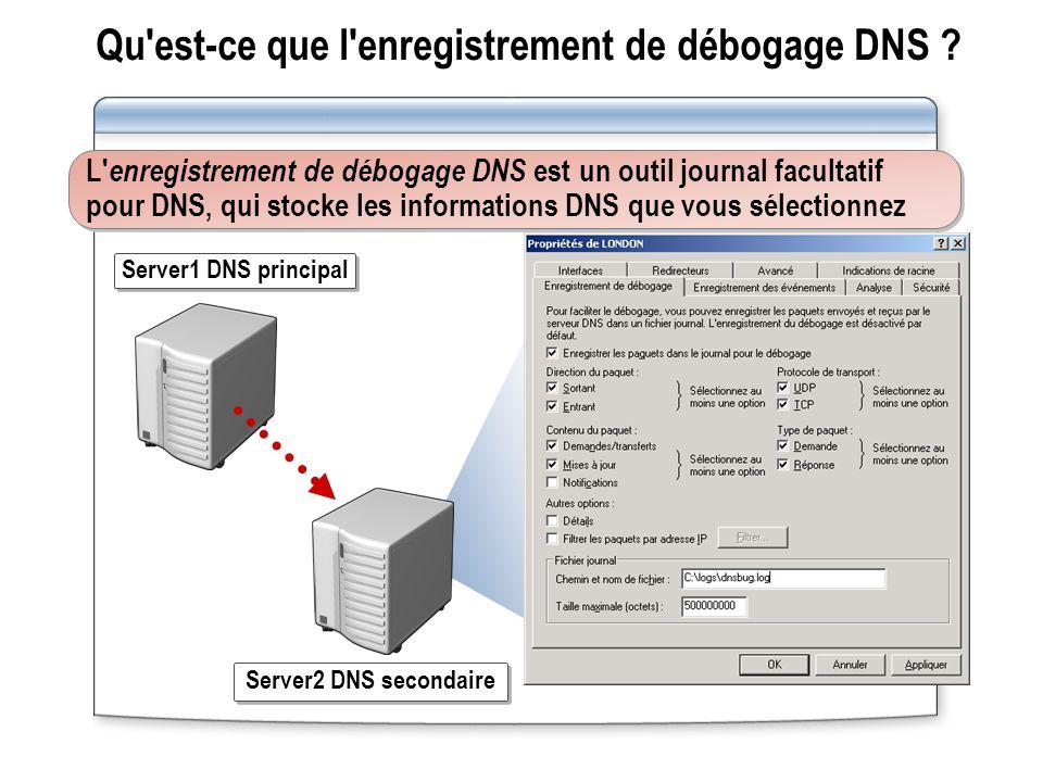 Qu est-ce que l enregistrement de débogage DNS .