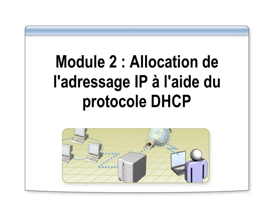 Module 2 : Allocation de l'adressage IP à l'aide du protocole DHCP