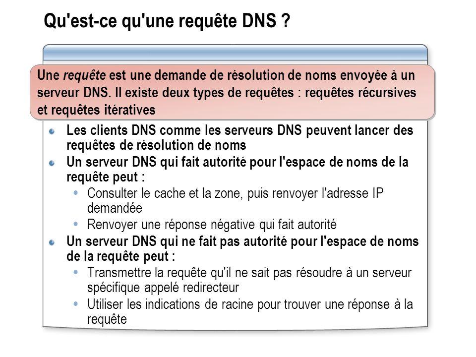 Qu est-ce qu une requête DNS .
