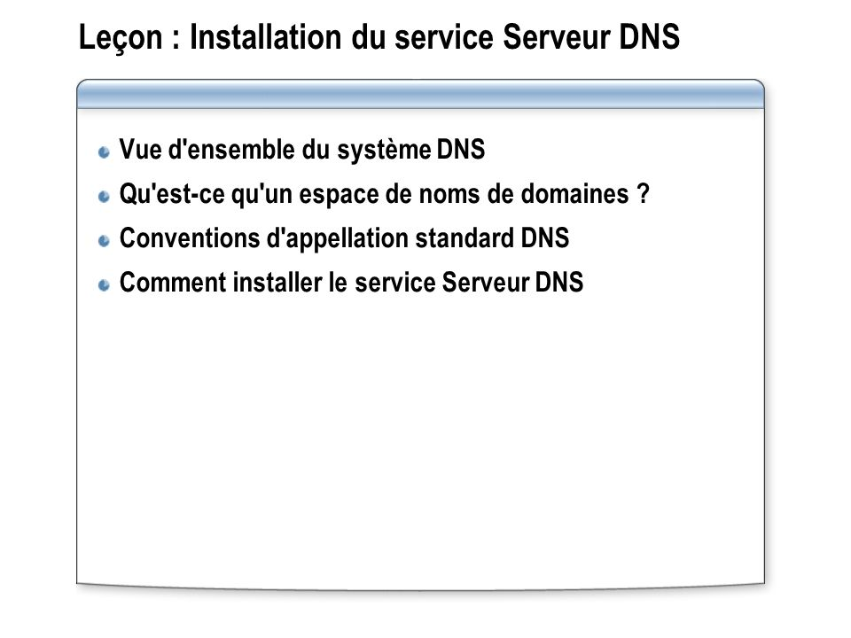 Fonctionnement des requêtes itératives Une requête itérative est une requête envoyée à un serveur DNS dans laquelle le client DNS demande la meilleure réponse que peut fournir le serveur DNS sans faire appel à d autres serveurs DNS.
