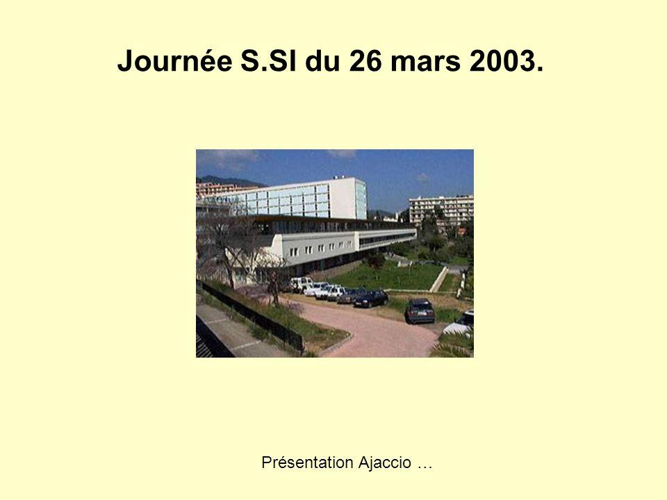 Journée S.SI du 26 mars 2003. Présentation Ajaccio …