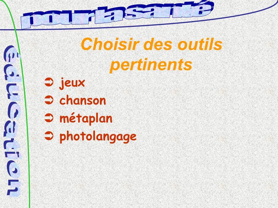 Choisir des outils pertinents jeux chanson métaplan photolangage