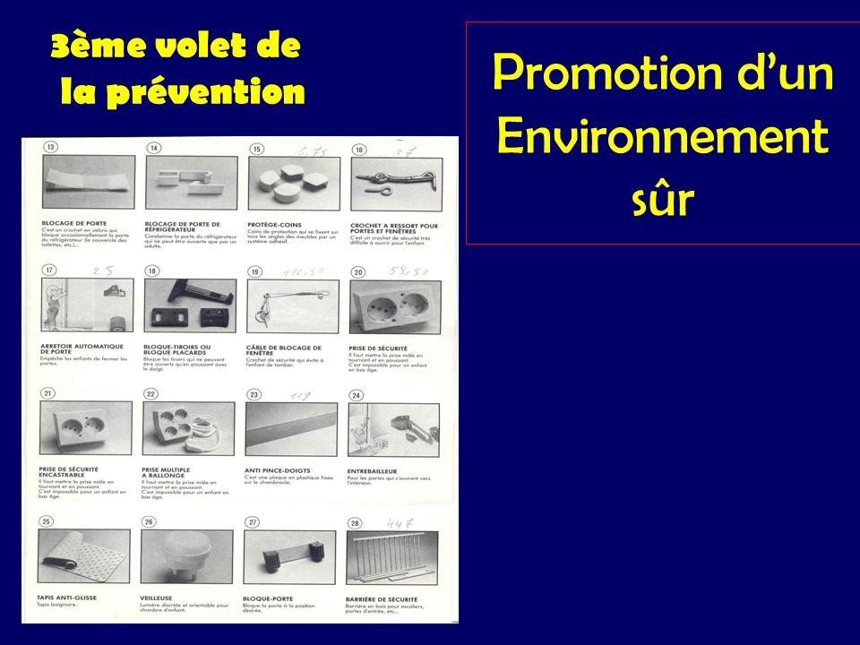 Promotion dun Environnement sûr 3ème volet de la prévention