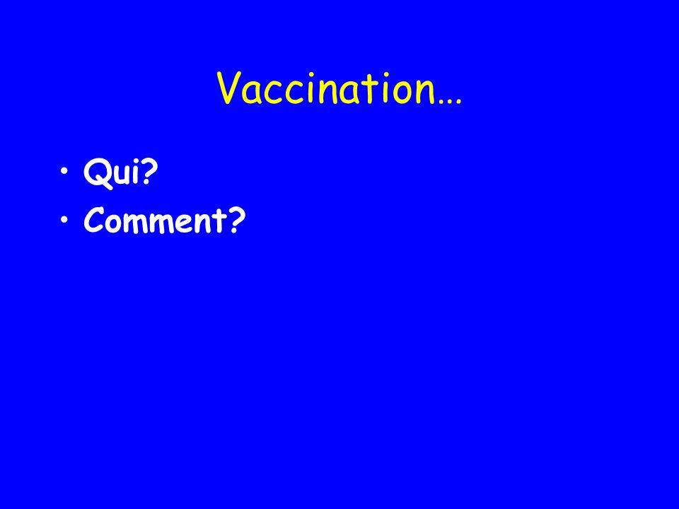 Vaccination… Qui? Comment?