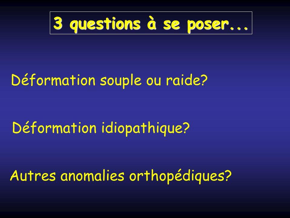 3 questions à se poser...Déformation souple ou raide.