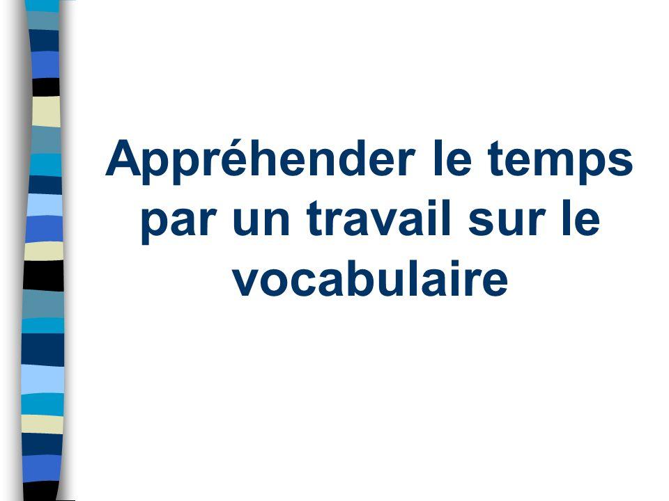 . Appréhender le temps par un travail sur le vocabulaire