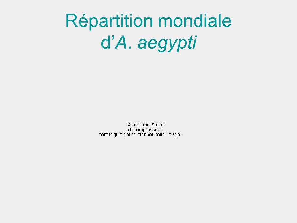 Répartition mondiale dA. aegypti