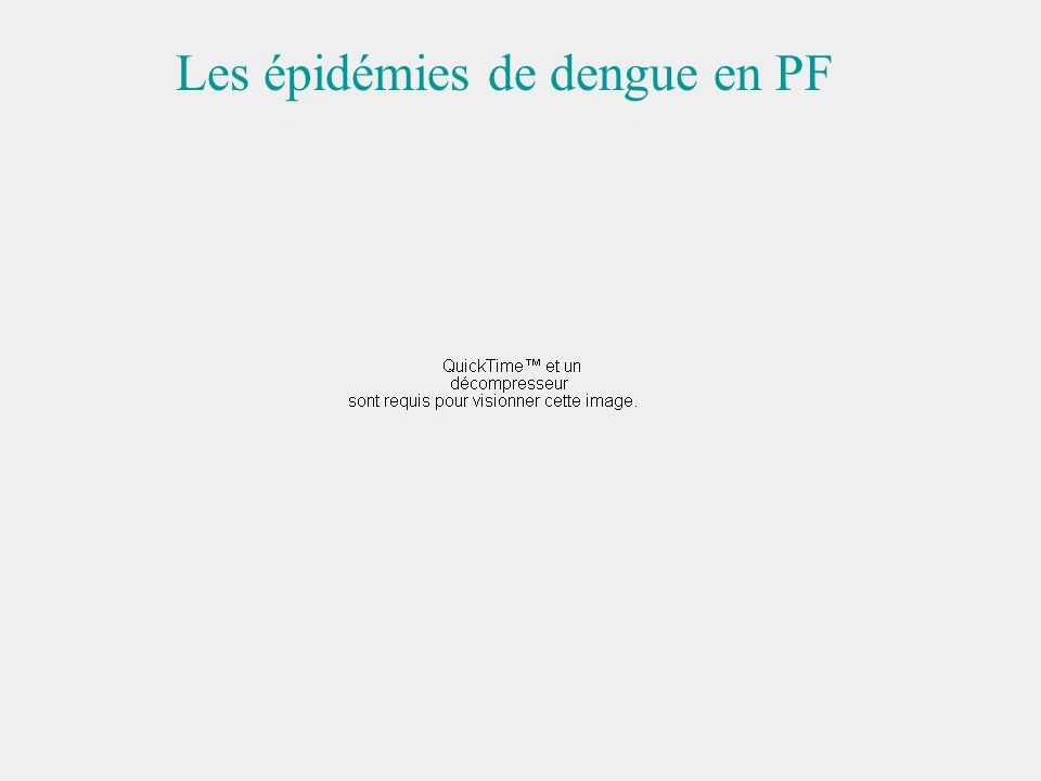 Les épidémies de dengue en PF
