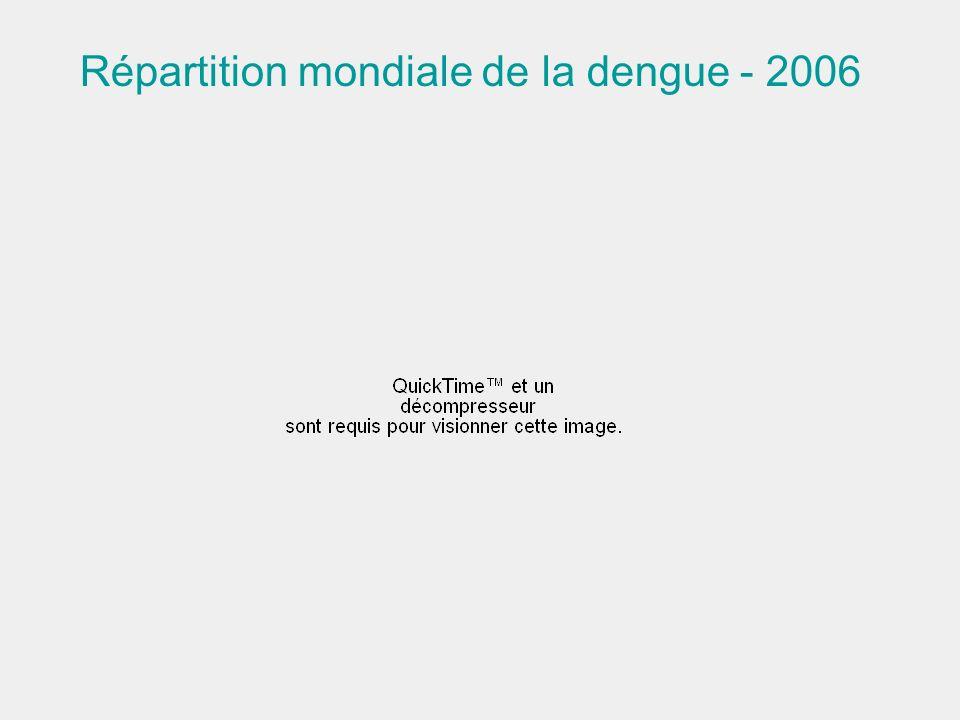 Répartition mondiale de la dengue - 2006