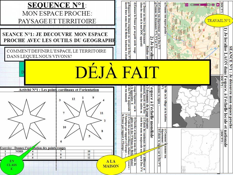 A LA MAISON MON ESPACE PROCHE: PAYSAGE ET TERRITOIRE REPONDRE AUX QUESTIONS PAGE 203 DECOUVRIR LE TERRITOIRE DE TOLLA GRACE A UN SIG REPONDRE AUX QUESTIONS PAGE 201 A LA MAISON 1234512345 123456789123456789 DÉJÀ FAIT