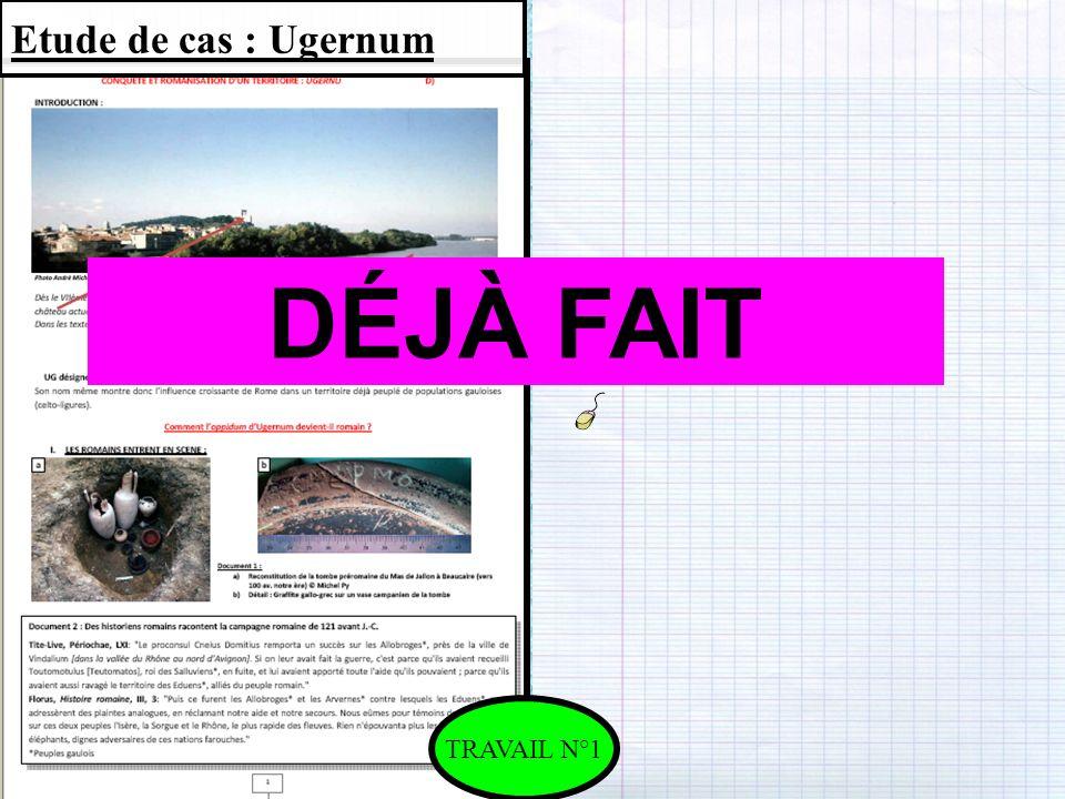 Etude de cas : Ugernum TRAVAIL N°1 DÉJÀ FAIT