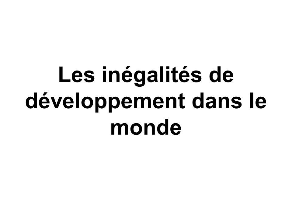 Les inégalités de développement dans le monde