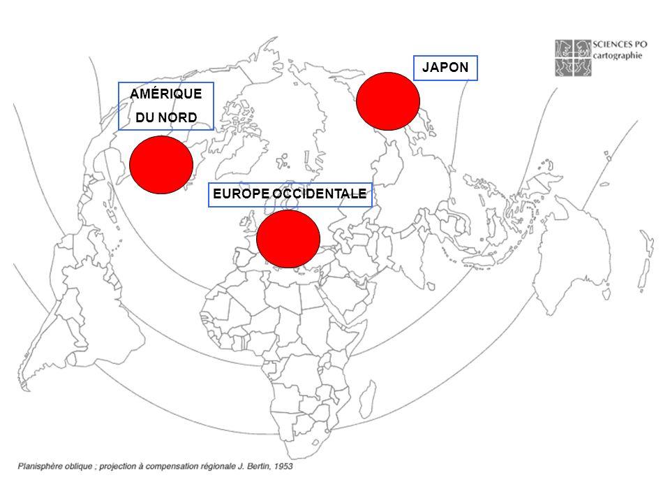 AMÉRIQUE DU NORD EUROPE OCCIDENTALE JAPON