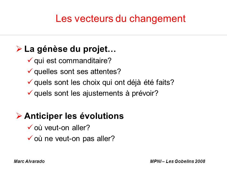 Marc AlvaradoMPNI – Les Gobelins 2008 Les vecteurs du changement La génèse du projet… qui est commanditaire.