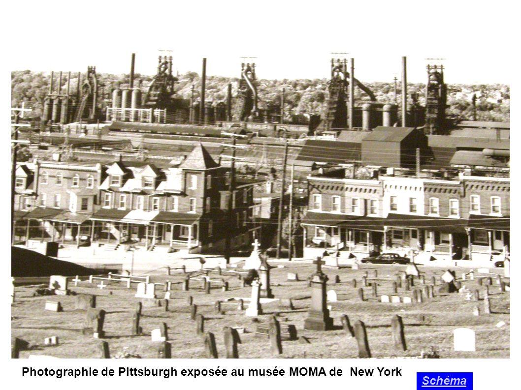 Photographie de Pittsburgh exposée au musée MOMA de New York Schéma