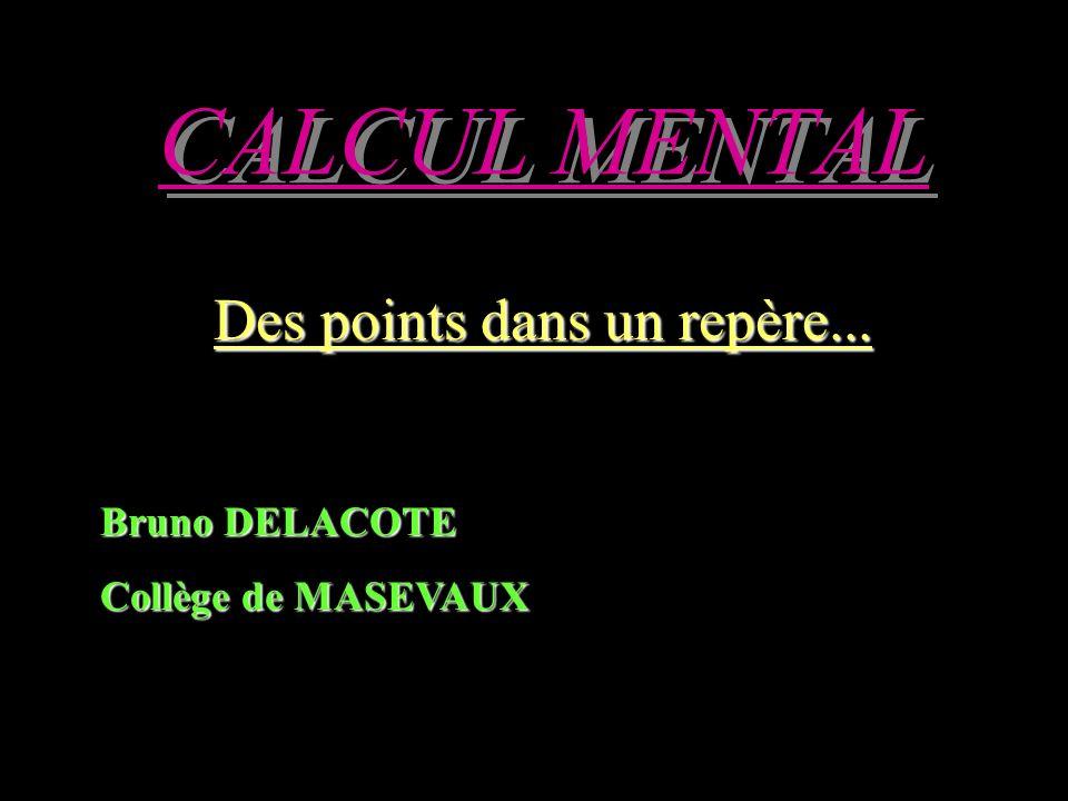 CALCUL MENTAL Des points dans un repère... Bruno DELACOTE Collège de MASEVAUX
