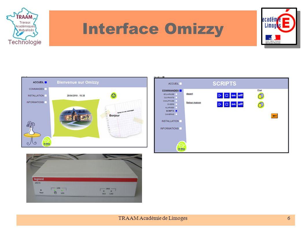 TRAAM Académie de Limoges6 Interface Omizzy