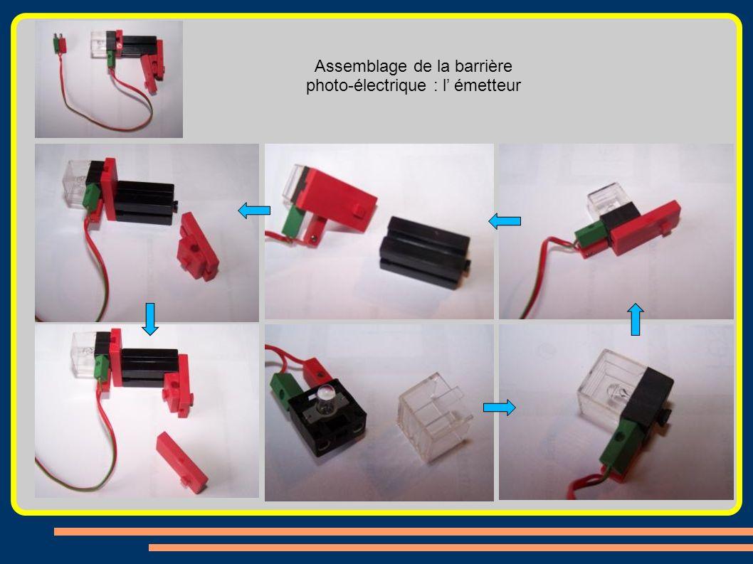 Assemblage de la barrière photo-électrique : l émetteur