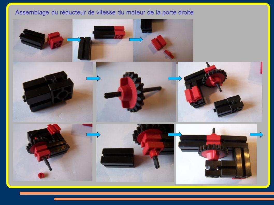 Assemblage du réducteur de vitesse du moteur de la porte droite