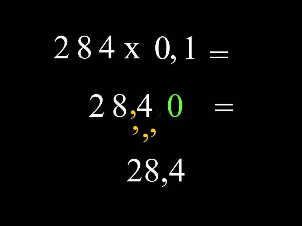 2 8 4x 0 = 2 8 4, 1,,,,, 0 = 28,4,