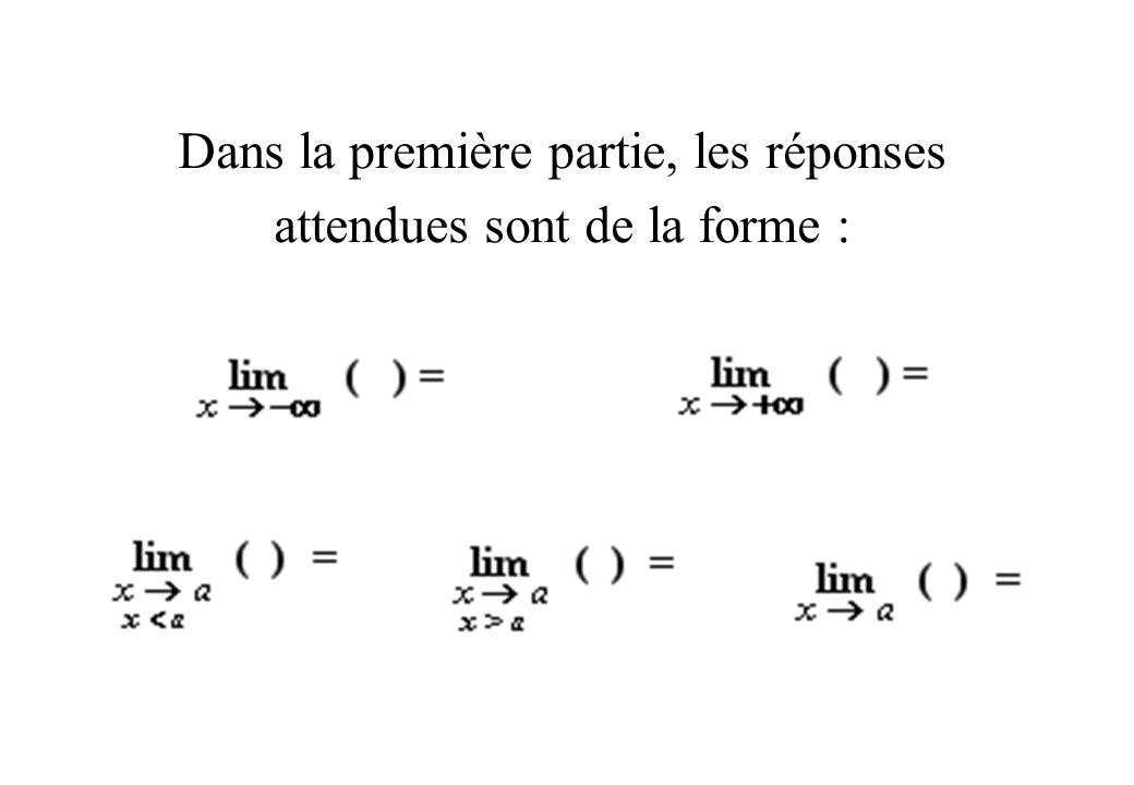 Quelle limite suffit-il de trouver pour prouver que la courbe représentative dune fonction f admet :