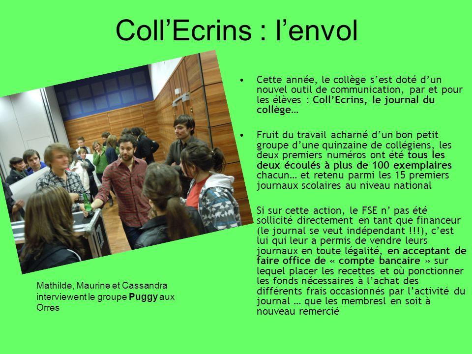 Cette année, le collège sest doté dun nouvel outil de communication, par et pour les élèves : CollEcrins, le journal du collège… Fruit du travail acha