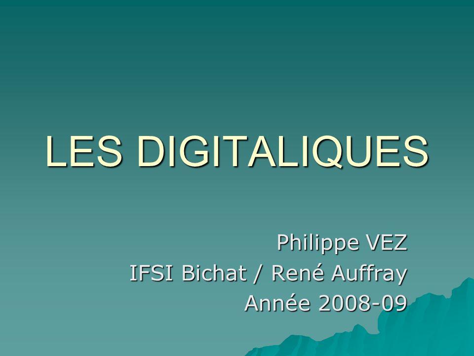 LES DIGITALIQUES Philippe VEZ IFSI Bichat / René Auffray Année 2008-09