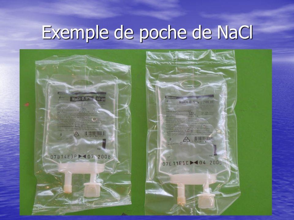Exemple de poche de NaCl