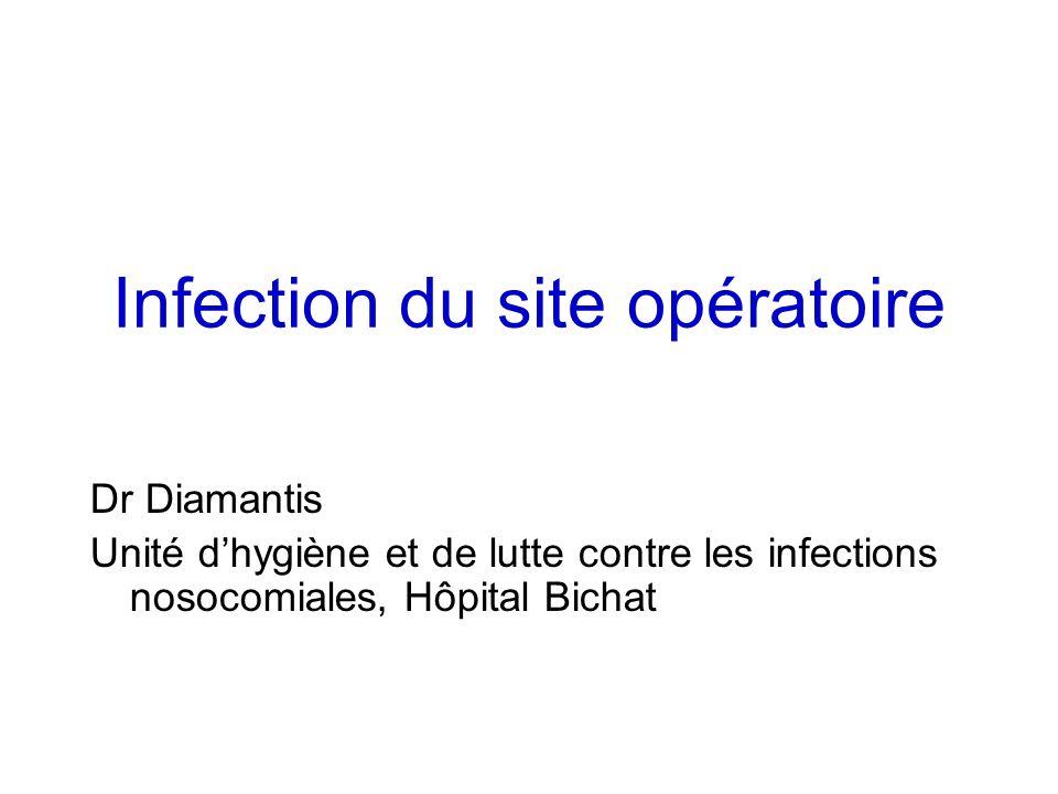 Infection du site opératoire Dr Diamantis Unité dhygiène et de lutte contre les infections nosocomiales, Hôpital Bichat