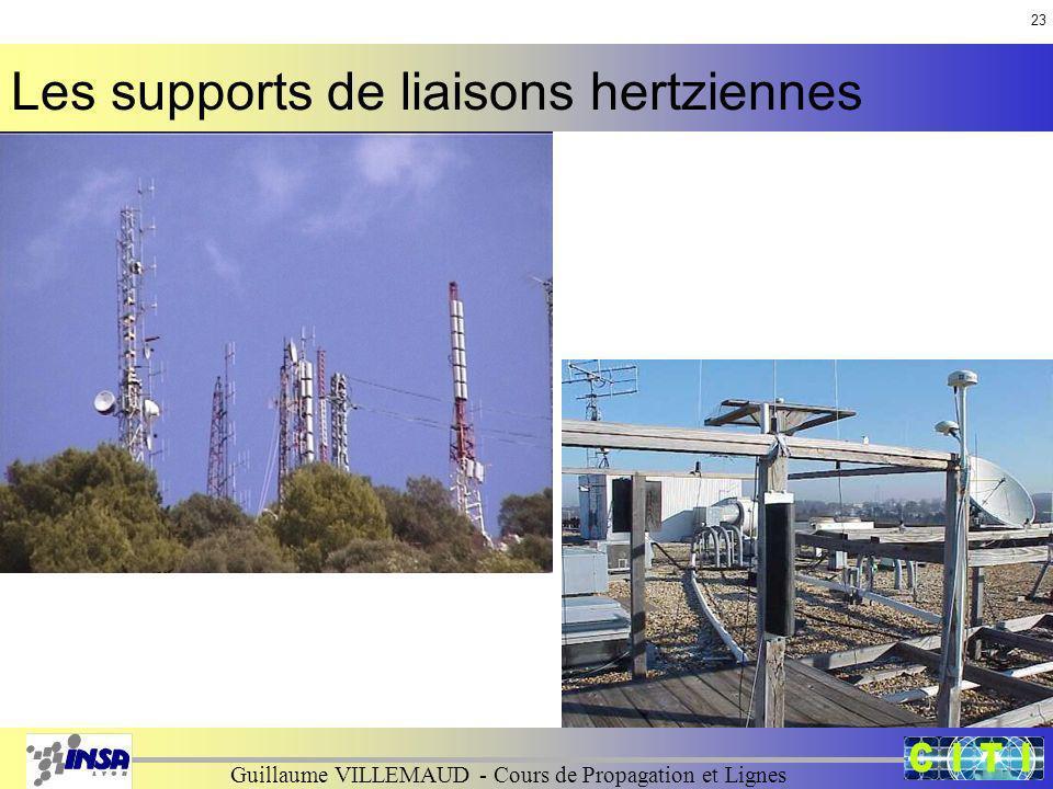 Guillaume VILLEMAUD - Cours de Propagation et Lignes Les supports de liaisons hertziennes 23