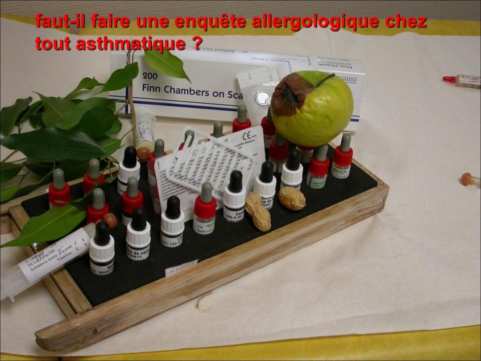faut-il faire une enquête allergologique chez tout asthmatique ?