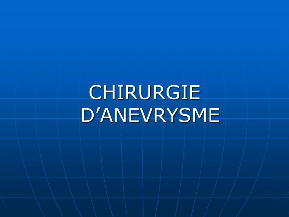 CHIRURGIE DANEVRYSME