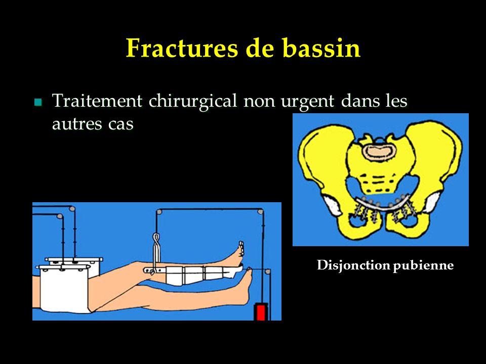Traitement chirurgical non urgent dans les autres cas Traitement chirurgical non urgent dans les autres cas Disjonction pubienne