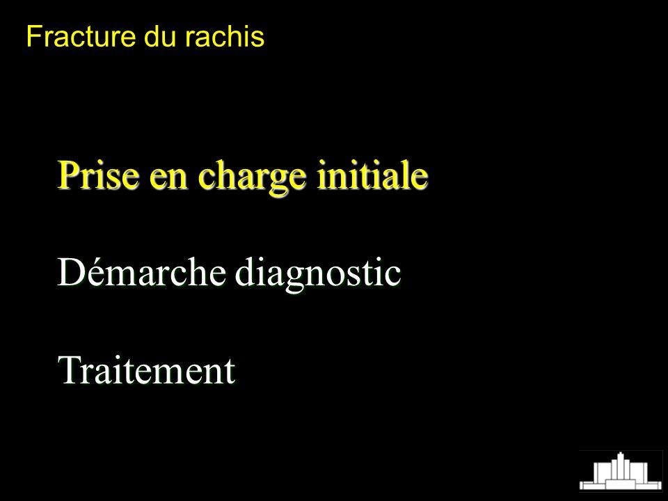 Fracture du rachis Prise en charge initiale Démarche diagnostic Traitement