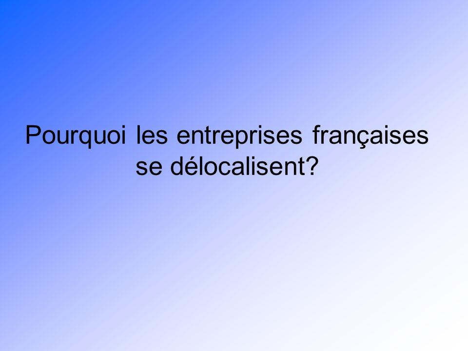 Pourquoi les entreprises françaises se délocalisent?
