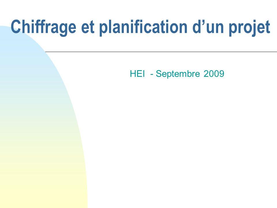Chiffrage et planification dun projet HEI - Septembre 2009