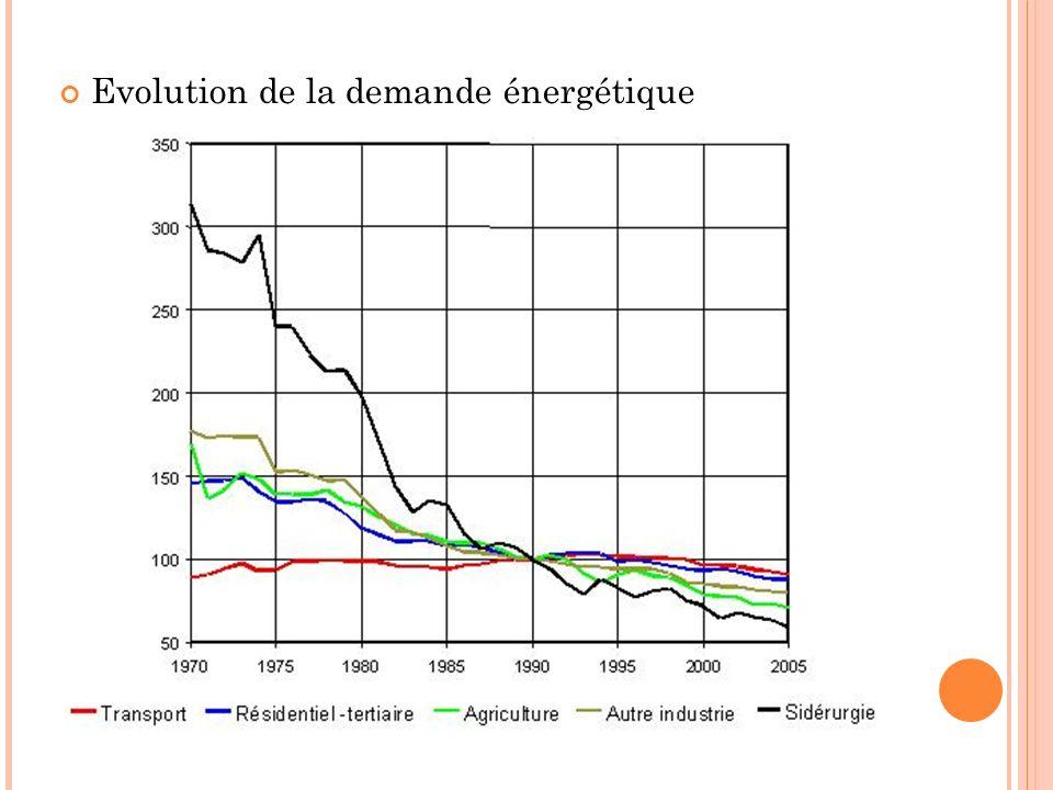 Evolution de la demande énergétique