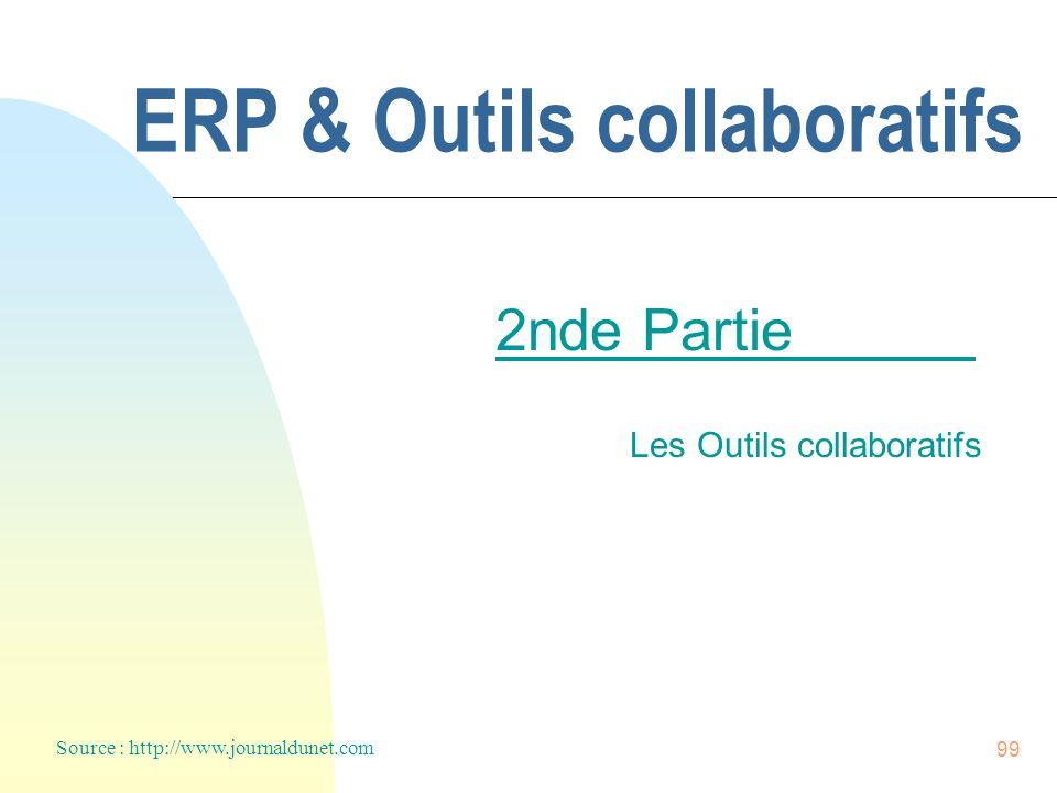 99 ERP & Outils collaboratifs 2nde Partie Les Outils collaboratifs Source : http://www.journaldunet.com