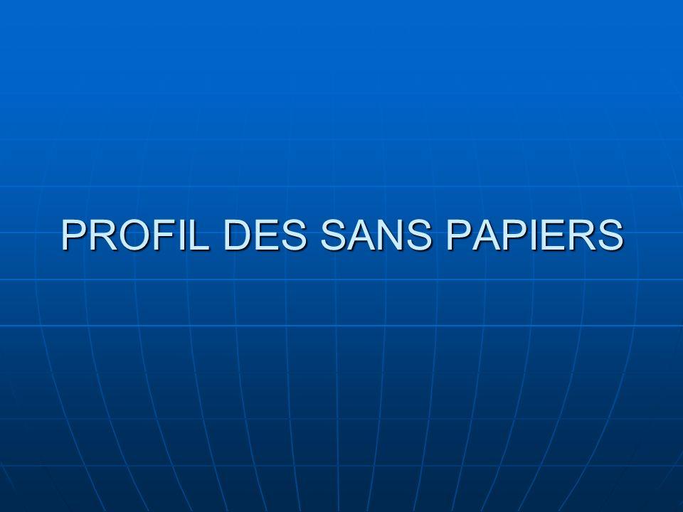 Profil des sans papiers 2 types de sans papiers 2 types de sans papiers Arrivée clandestine Expiration des papiers